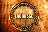 lacrosse, 3D rendering, text on metal poster