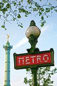 Paris metro La Bastille subway sig