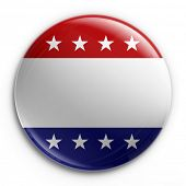 3d rendering of a badge for the 2008 presidential election, empty so your own text can be added