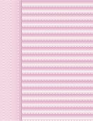 Background - Pink Fabric With Stitches