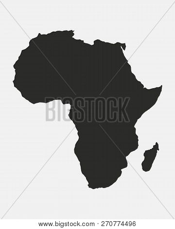 Map Of The Africa Isolated