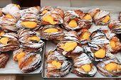 sfogliatelle pastries with cream