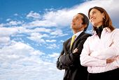 picture of business-partner  - business partners looking out for their future
