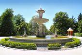 Madrid fuente de la Alcachofa fountain in Retiro Park