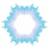 Blue Guilloche Rosette Or Spirograph Background   Illustration poster