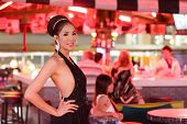 thai ladyboy posing in gogo bar, pattaya, thailand