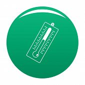 Big Thermometer Icon. Simple Illustration Of Big Thermometer Vector Icon For Any Design Green poster