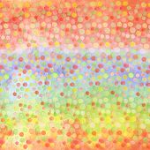 Bright Modern Seamless Hand Drawn Pattern Of Confetti Over Blur Rainbow. Watercolor Pattern For Kids poster