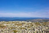 Awesome View For A Postcard Or Calendar. Summer In The Mountains. Plateau Of The Ural Mountains With poster