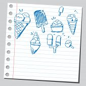 Scribble ice-creams