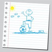 Scribble soccer player