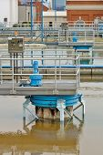 pic of drinking water  - Photo of a clarifier at a large drinking water treatment plant - JPG