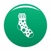 Spotted Sock Icon. Simple Illustration Of Spotted Sock Vector Icon For Any Design Green poster