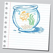 Scribble golden fish