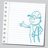 Sketch of a coach