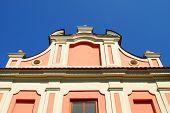 Part of historic building in Sandomierz, Poland