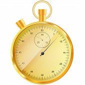 gold stopwatch