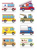 foto of ice-cream truck  - car icon set vector illustration isolated on white background - JPG