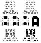 Vector pixel alphabet