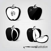 Conjunto de apple vector