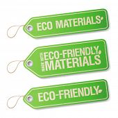 Made With Eco-friendly Materials labels collection.