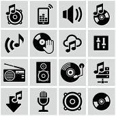 Music icons set.