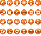 Vector Illustration Of A Set Of Various Icons And Symbols