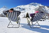 picture of apr  - Couple at mountains in winter - JPG