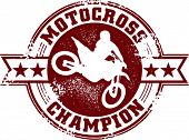 Vintage Motocross Champion T-Shirt Graphic