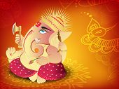 Illustration of Hindu Lord Ganesha. EPS 10.