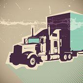 Ilustração de caminhão grande. Ilustração vetorial.