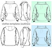 picture of hooded sweatshirt  - Vector - JPG