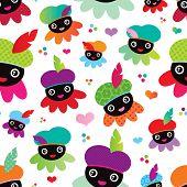 Seamless zwarte Piet dutch traditional dutch kids holiday background pattern in vector
