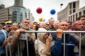 Moskau - 15.09: oppositionelle Aktivisten und Unterstützer beteiligen an eine Anti-Putin-Protest am Sep
