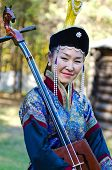 ULAN-UDE, RUSSIA - SEPTEMBER 13:Unidentified women in Buryat traditional costume. Costume show at Ba