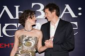MOSCOW, RUSSIA,SEPTEMBER, 6: Milla Jovovich and Paul W.S. Anderson. Premiere of the movie