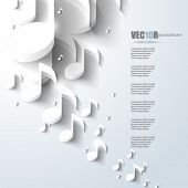 stock photo of pamphlet  - eps10 vector music note background design - JPG