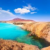 Lanzarote Playa del Pozo beach in costa Papagayo Canary Islands