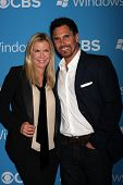 LOS ANGELES - SEP 15:  Katherine Kelly Lang, Don Diamont arrives at the CBS 2012 Fall Premiere Party