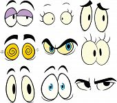 Cartoon eyes. Vector illustration with simple gradients. Each in a separate layer for easy editing.
