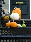 Thanksgiving bereit Haus Tür