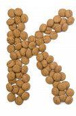 Ginger Nut Alphabet K