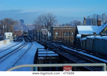 poster of Winter Train City Snow Commute