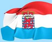 Flag Of Luxembourg Province, Belgium.