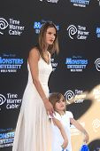 LOS ANGELES - JUN 17: Alessandra Ambrosio, daughter Anja Mazur at The World Premiere for 'Monsters University' at the El Capitan Theater on June 17, 2013 in Los Angeles, California