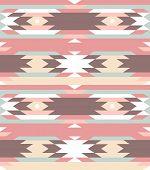 Sem costura padrão geométrico, no estilo asteca