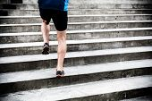 Man Running On Stairs, Sports Training