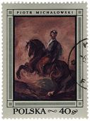 Horseman - Canvas Of Polish Artist Piotr Michalowski