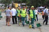 Municipality workers