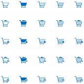 Shopping Cart Icon Set 1